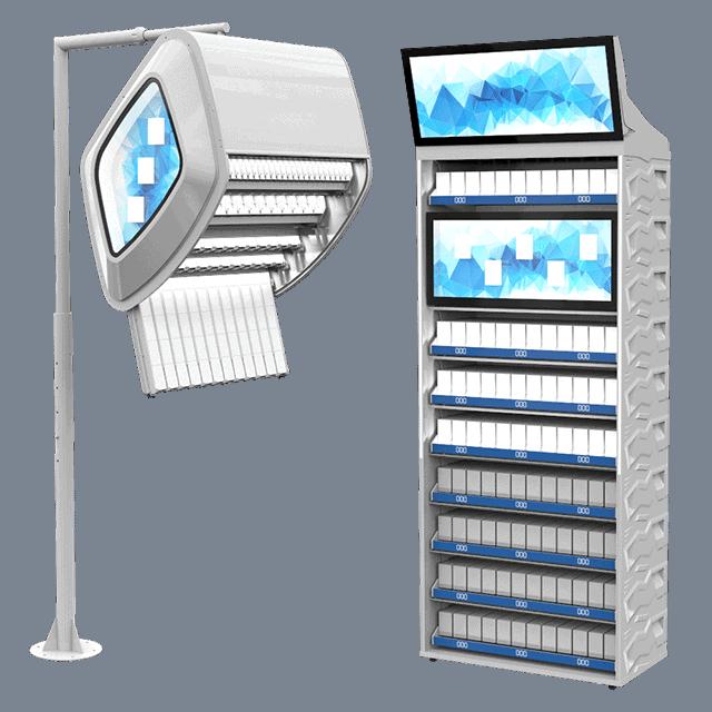 ADV open market tobacco displays. promotion, shelve, dispenser, backwall, overhead